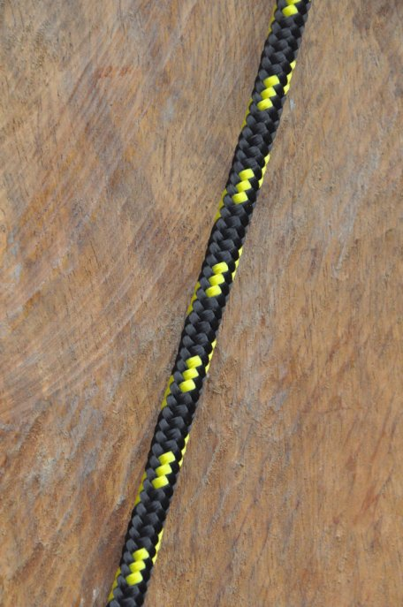 Ø6 mm black / fluo-yellow alpine rope for djembe drum - Djembe rope