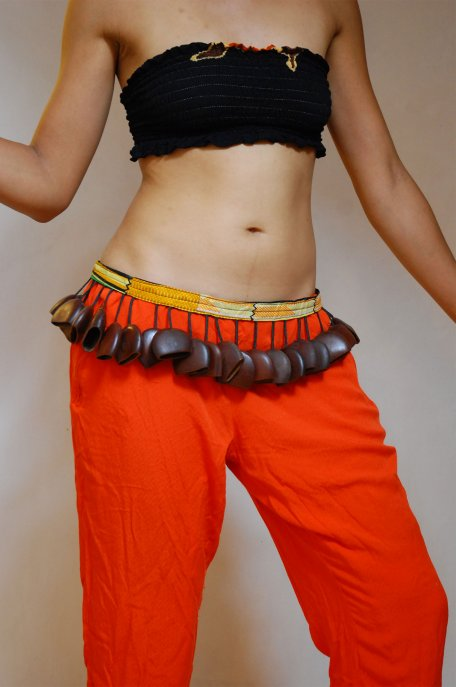 African dance belt - Large Ghana juju dance belt