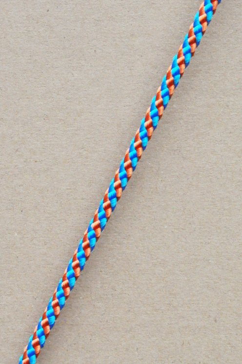 Ø5 mm djembe halyard (helix, copper / blue, 100 m) - Rope for djembe drum