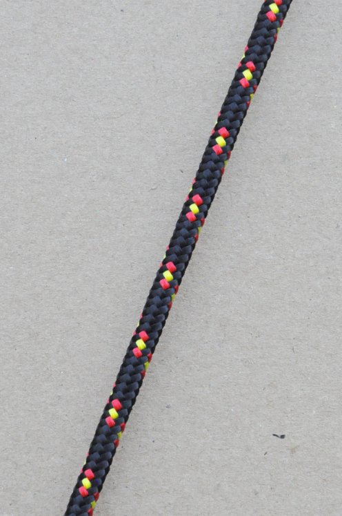 Ø6 mm halyard for djembe drum (black / Spanish tricolour, 100 m) - Djembe rope