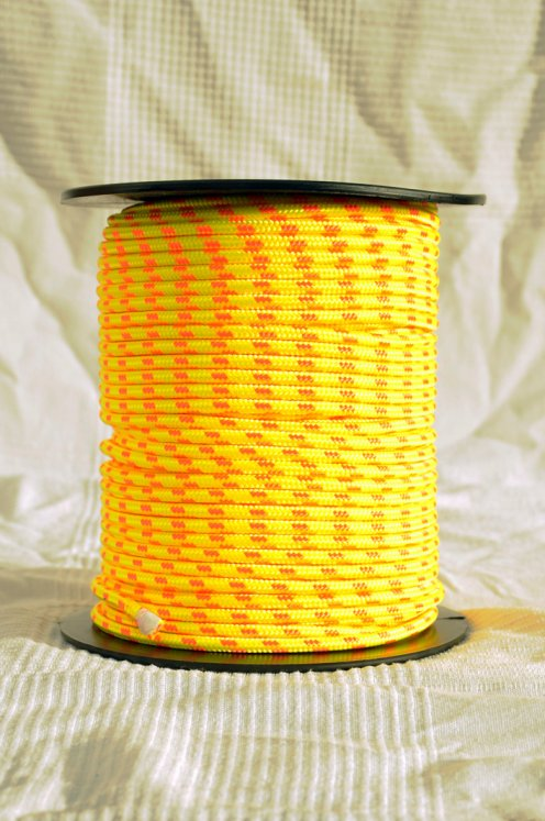 Ø6 mm fluo-yellow / orange alpine rope for djembe drum - Djembe rope
