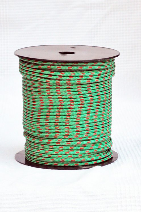 Ø5 mm halyard for djembe drum (green / red, 100 m) - Djembe rope