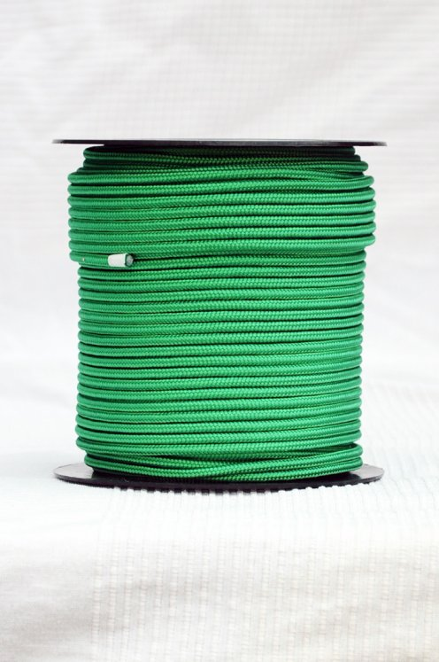 Green Ø5 mm pre-stretched alpine rope for djembe drum - Djembe rope