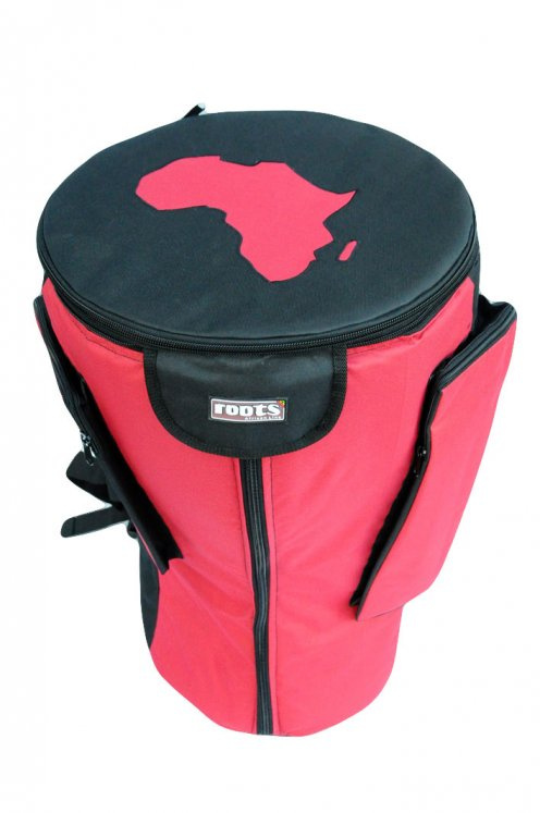Roots Percussions Premium djembe bag for sale - High end red bag for large djembe