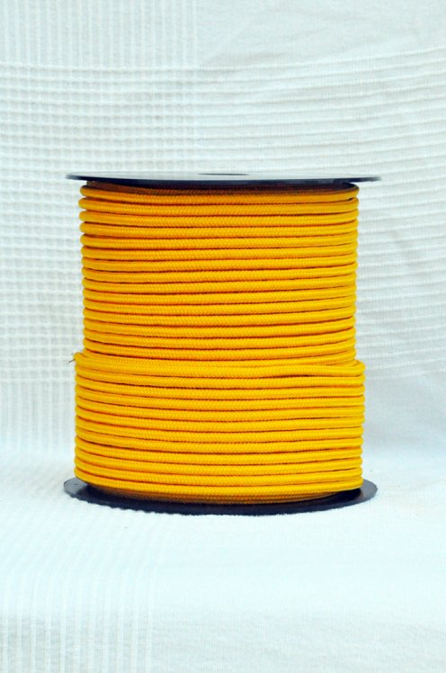 Light orange Ø5 mm pre-stretched pre-stretched rope for djembe drum - Djembe rope