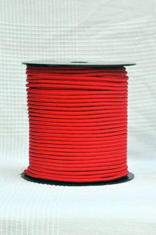 Red Ø5 mm pre-stretched rope for djembe drum - Djembe rope