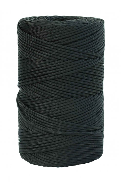 Black Ø4 mm braided rope for djembe drum - Djembe rope