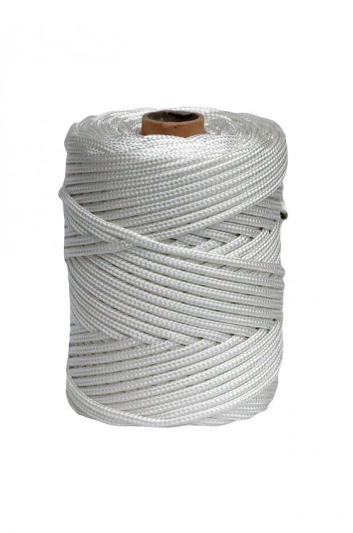 White Ø5 mm braided rope for djembe drum - Djembe rope