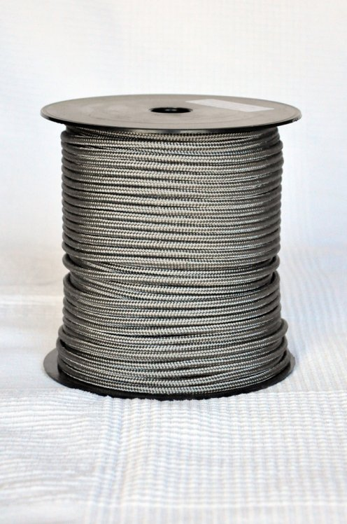 Steel grey Ø5 mm pre-stretched rope for djembe drum - Djembe rope