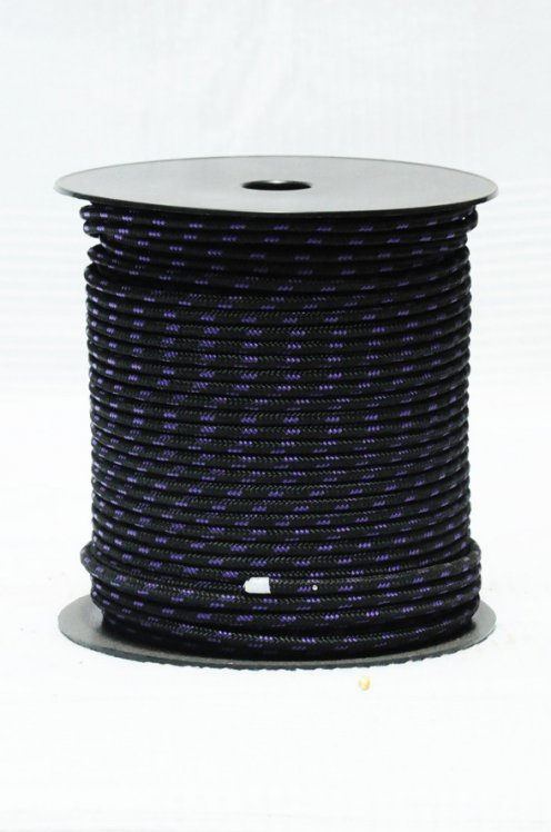 Ø5 mm black / violet black alpine rope for djembe drum - Djembe rope