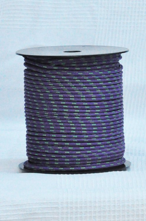 Ø5 mm violet / green prestretched polyester rope for djembe drum - Djembe rope