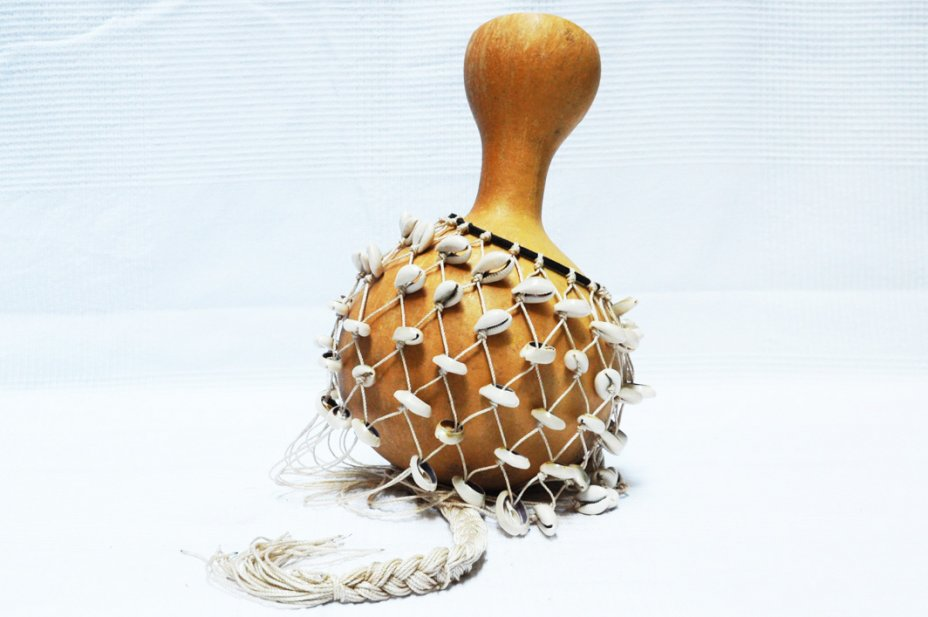 African shekere for sale - Medium-sized djabara with cowries