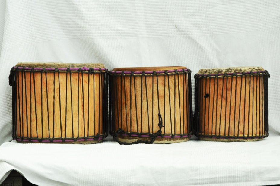 Dundun set for sale - 3 Ghana small dunun drum set